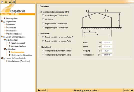 Last gen conpatec statiksoftware f r metallleichtbau for Lasten statik